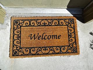 Welcome Mat in Doorway