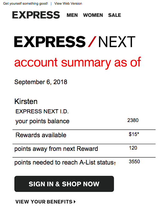 Express Rewards
