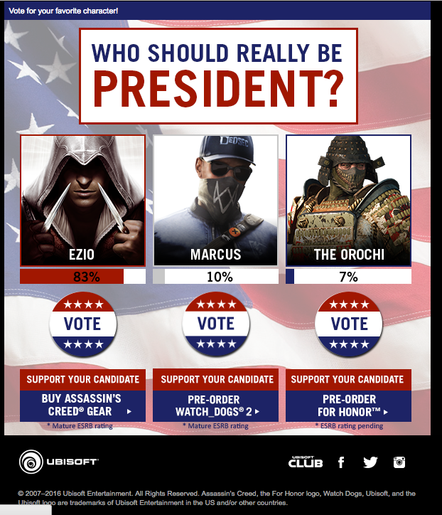 Ubisoft Poll Email Content