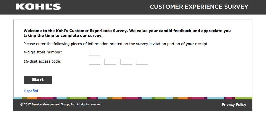 kohls customer experience survey