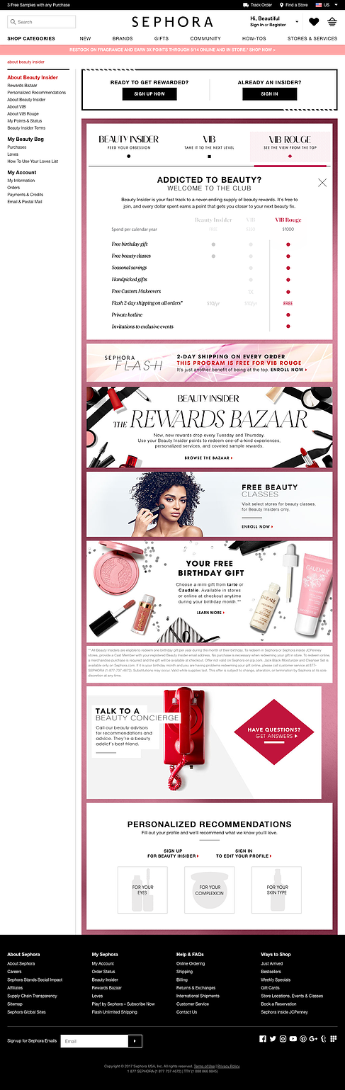 sephora customer loyalty