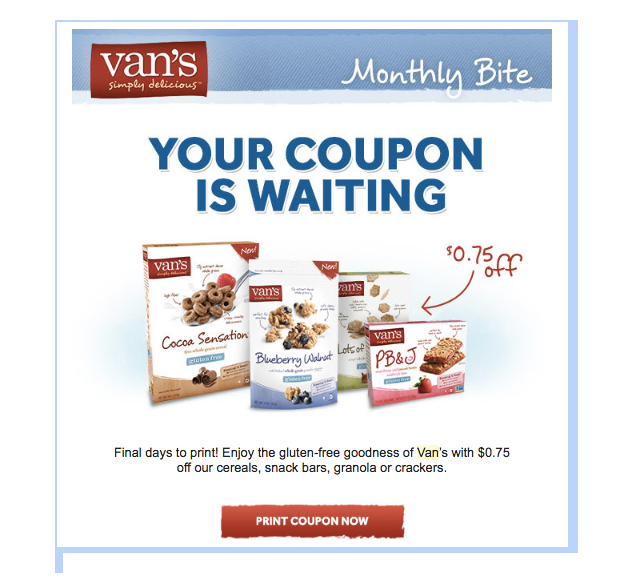 triggered emails vans coupon