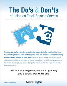 Best Practices Using Email Append Service